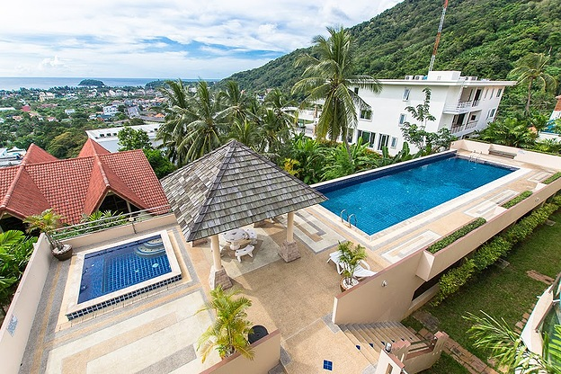 townhouse with ocean view, kata top view